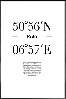Köln -Bild mit Kunststoffrahmen