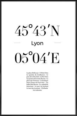 Lyon affiche encadrée