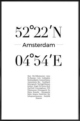 Amsterdam affiche encadrée