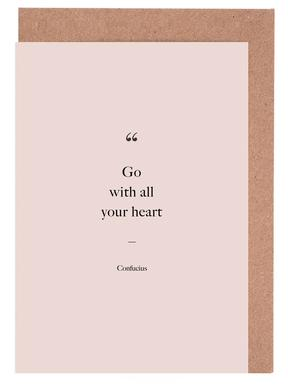 Go with All Your Heart Greeting Card Set