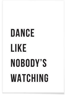 Dance - White Poster