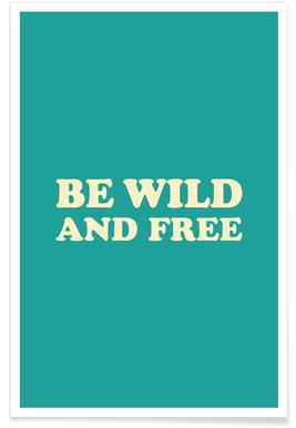 Be Wild and Free - Mint affiche