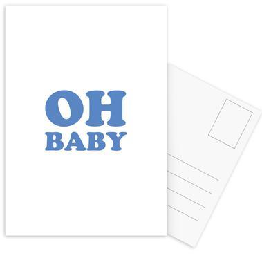 Oh Baby - Blue Postcard Set