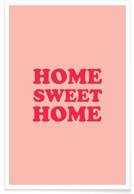 Home Sweet Home - Pink affiche