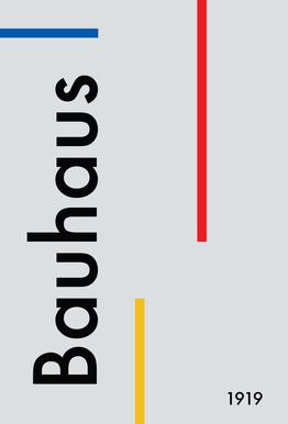Bauhaus 1919 tableau en verre
