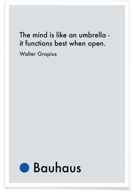 Gropius - Creativity -Poster