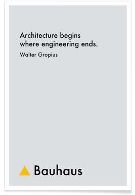 Gropius - Architecture -Poster