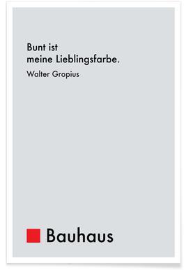 Gropius - Colourfulness -Poster