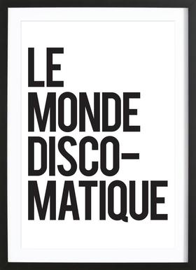 Disco-Matique Poster in Wooden Frame