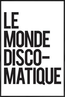 Disco-Matique affiche encadrée