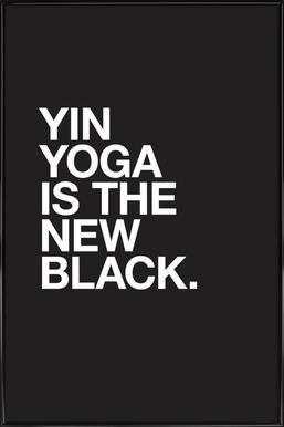 Yin Yoga affiche encadrée