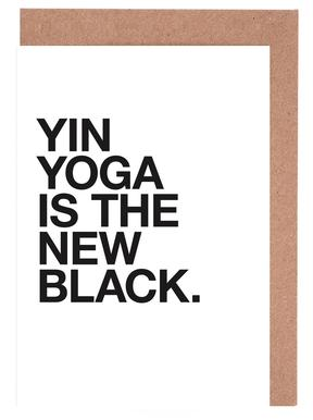 Yin Yoga black Grußkartenset