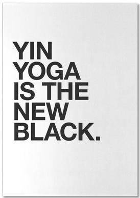 Yin Yoga black notitieblok