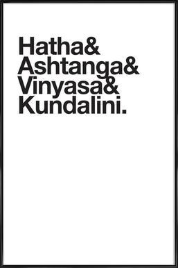 Yoga affiche encadrée