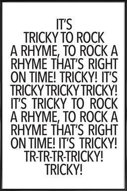 Rock a rhyme affiche encadrée