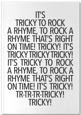 Rock a rhyme Notebook