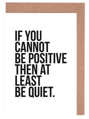 Positive or Quiet wenskaartenset