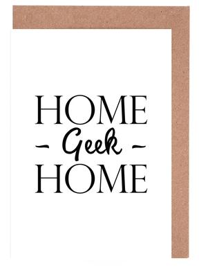 Home Geek Home Set de cartes de vœux