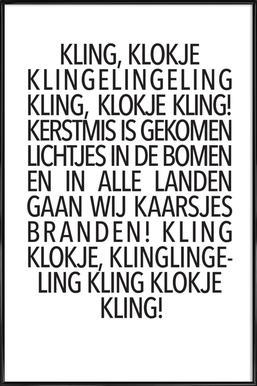 Kling, Klokje Framed Poster