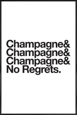 Champagne & Regrets affiche encadrée