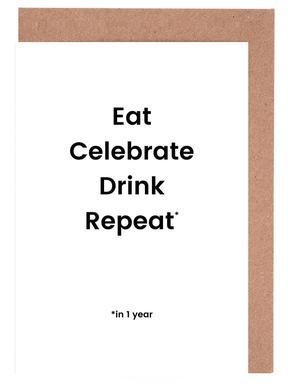 Celebration Rotation Gratulationskort i satt