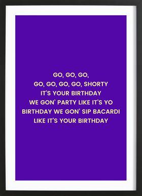 Go Shorty Framed Print