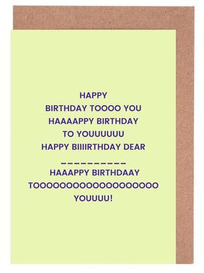 Happy Birthday to You Set de cartes de vœux
