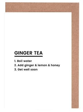 Ginger Tea Recipe Set de cartes de vœux