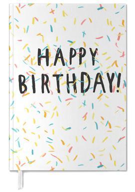 Happy Birthday Confetti Agenda