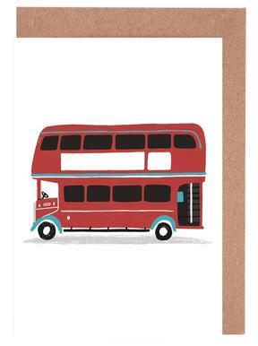 London Bus Greeting Card Set