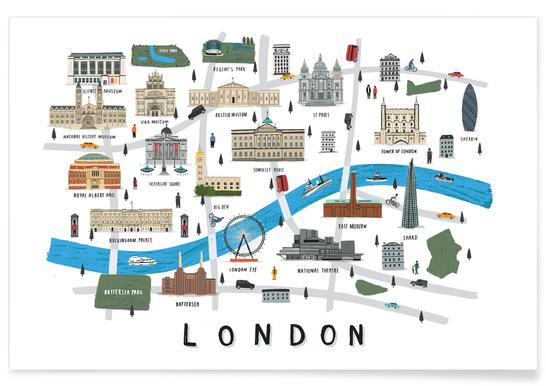 London Map Affiche