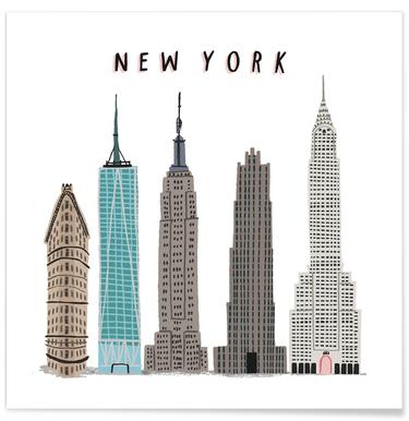 New York Buildings Poster
