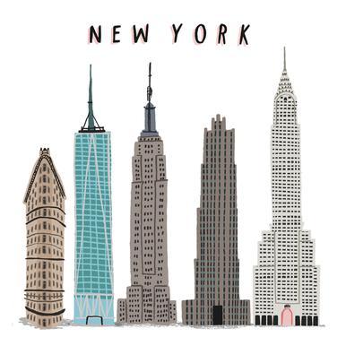 New York Buildings -Acrylglasbild