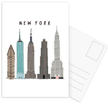 New York Buildings Set de cartes postales