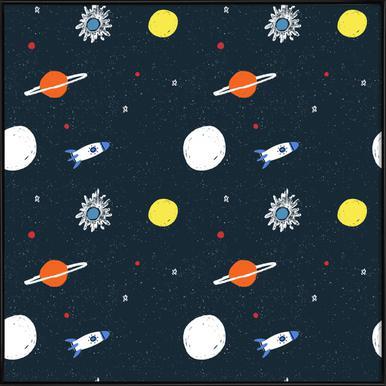 Planets Pattern Framed Poster