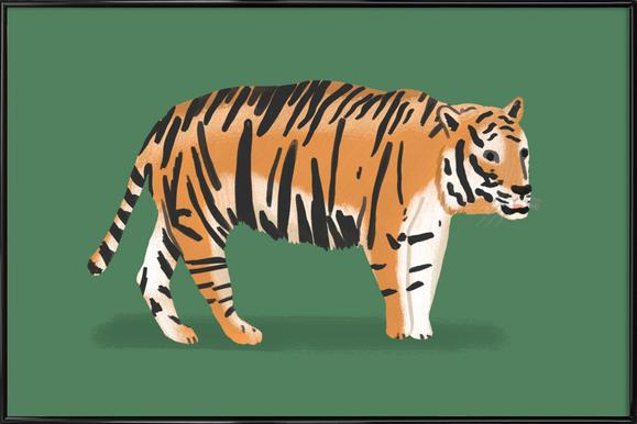 Tiger Poster im Kunststoffrahmen