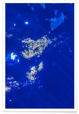 Pazifikblau Poster