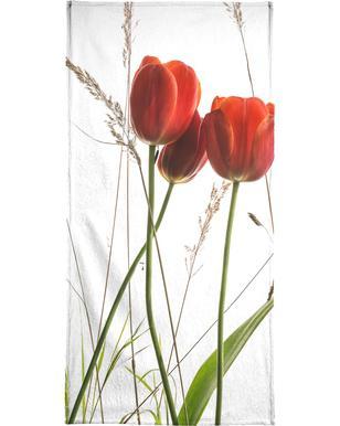 Flora - Tulpe Serviette de bain