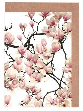 Flora - Magnolie Grußkartenset