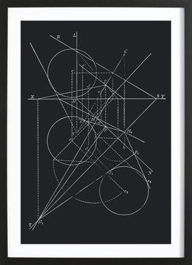 Compasses -Bild mit Holzrahmen