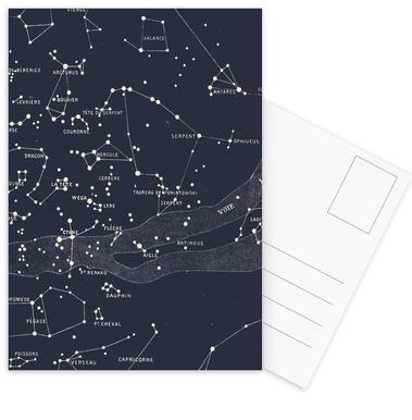 Carte du Ciel I Set de cartes postales