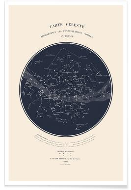 Carte du Ciel affiche