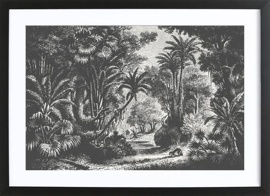 Indian Jungle -Bild mit Holzrahmen