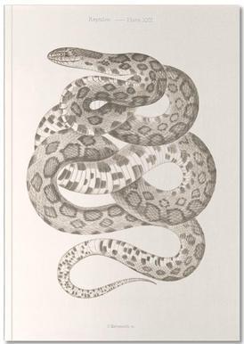 Reptiles - Plate XXII Notizbuch