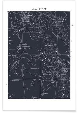 Sagittarius Blue Poster