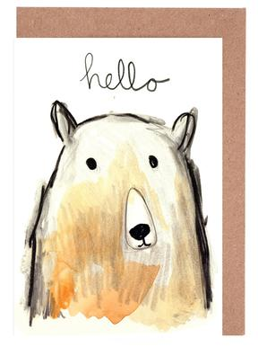Hello Bear Greeting Card Set