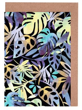 Jungle Leaves Dark Greeting Card Set