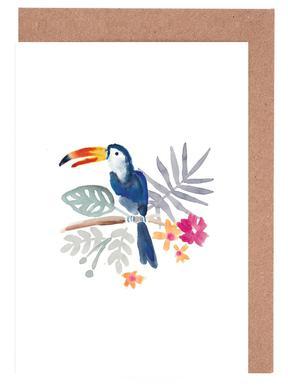 Toucan Jungle Set de cartes de vœux