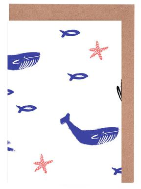 Whale Underwater Greeting Card Set