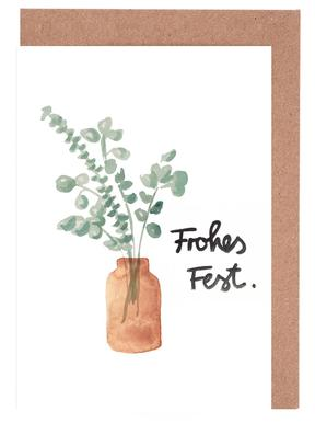 Eukalyptus Vase Greeting Card Set